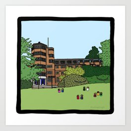 Cambridge struggles: St Edmund's College Art Print