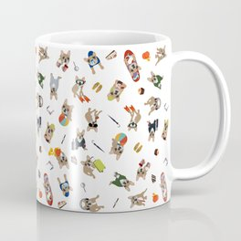 Frenchie's luxury life pattern Coffee Mug