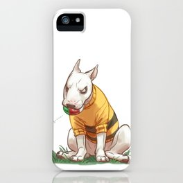 Mad dog in bumble bee sweater  iPhone Case
