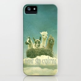 NEVER STOP EXPLORING 1 (THE CLOUDS) iPhone Case