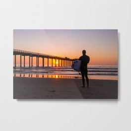Scouting the Sunset Metal Print