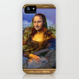 Mona (Kevin) Lisa : Satire + Contemporary Fine Art iPhone Case