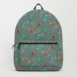 Tiki Birds Dark Backpack