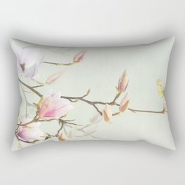 Magnolia and green-veined white Rectangular Pillow