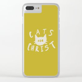 Cats for Christ x Mustard Clear iPhone Case