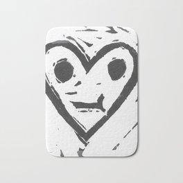 :-/ Heart Bath Mat