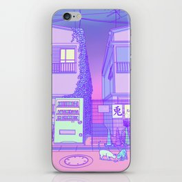 Pastel Tokyo Cats iPhone Skin
