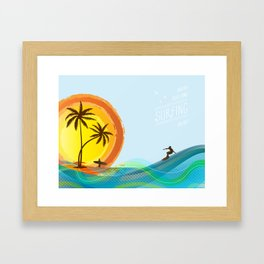 Enjoy summer Framed Art Print