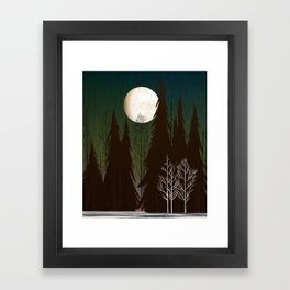 Into The Cold Winter Woods Framed Art Print
