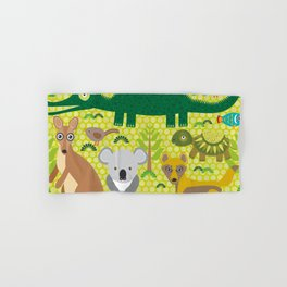 Animals Australia snake, turtle, crocodile, alliagtor, kangaroo, dingo Hand & Bath Towel