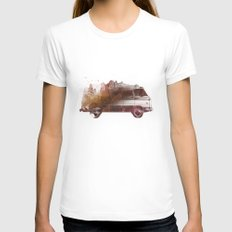 Drive me back home Womens Fitted Tee MEDIUM White