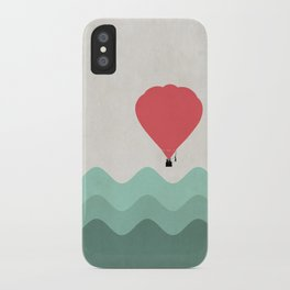 The Hot Air Balloon {The Boring Afternoon Design Series} iPhone Case