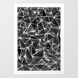 Triangular Texture - Inverted/Bleached Art Print