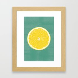 Lemon Print - Pop Framed Art Print