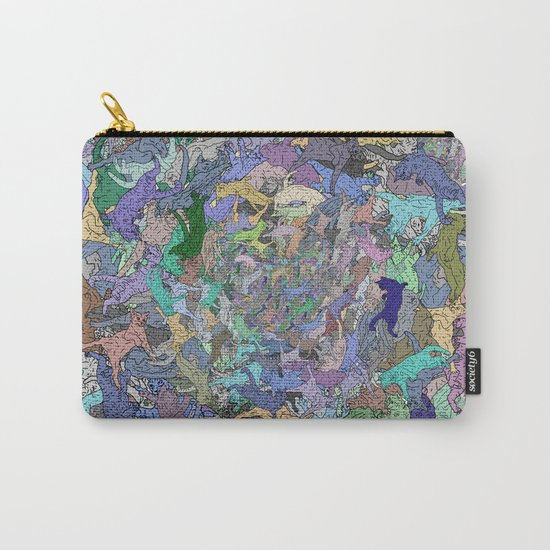 Neon Cats Blue Moon Sea Twilight Carry-All Pouch