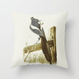 Morning Mr Magpie Throw Pillow
