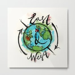East & West Logo Metal Print