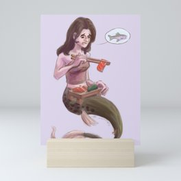 Mermay - sashimi Mini Art Print