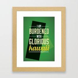 Kawaii Loki Framed Art Print