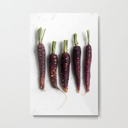 Purple Carrot Squad Metal Print