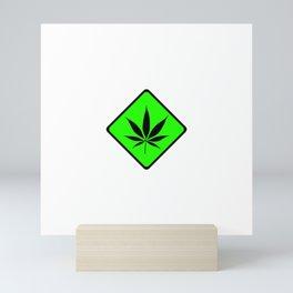 Weed Cannabis art work 420 pot head gift Mini Art Print