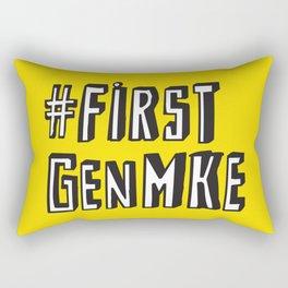 #FirstGenMke Rectangular Pillow