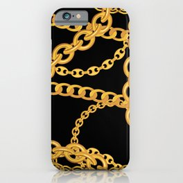 gold chains iPhone Case