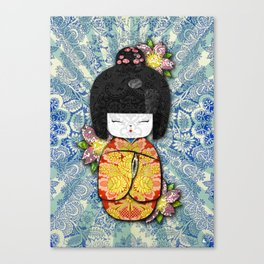 Horror Vacui - Kokeshi01 Canvas Print