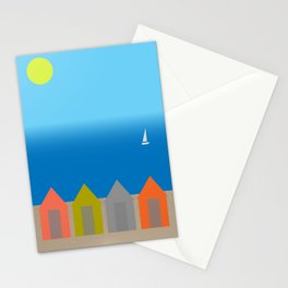 Beach huts - Summer Stationery Cards