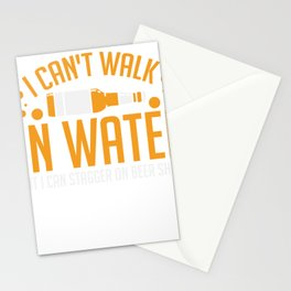 BEER: I Can't Walk On Water Stationery Cards