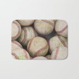 Many Baseballs - Background pattern Sports Illustration Bath Mat