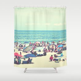 Beach Day on Long Island Shower Curtain