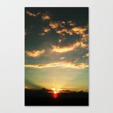 Sunset Blue Canvas Print