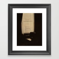 Chocolate Chair Polaroid Framed Art Print