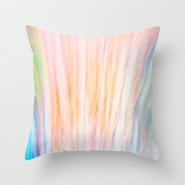 Rainbow Abstract Throw Pillow