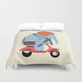 the elephant mobile Duvet Cover