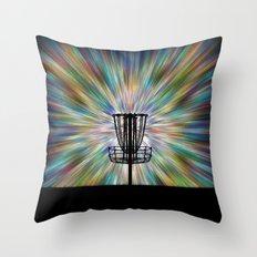 Disc Golf Basket Silhouette Throw Pillow