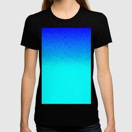Electric Blue Ombre flames / Light Blue to Dark Blue T-shirt