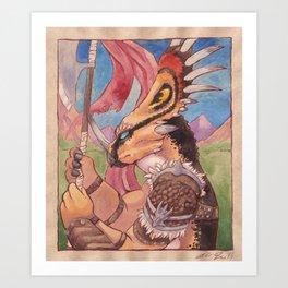 Styracosaurus Guard Art Print