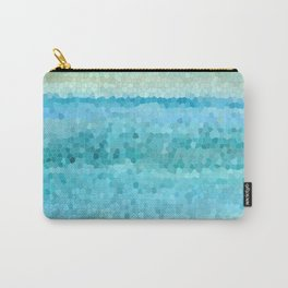 Misty Watecolor Mosaic Carry-All Pouch
