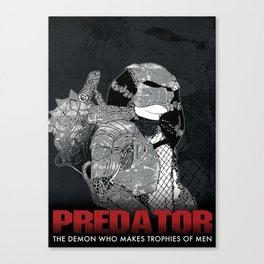 The Demon Who Makes Trophies of Men Canvas Print