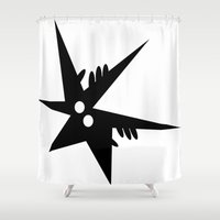 comic Shower Curtains featuring Comic by shirteam