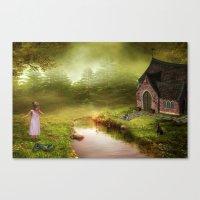 fairy tale Canvas Prints featuring Fairy Tale by Susann Mielke