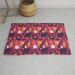 Witch Supplies in Wine Rug