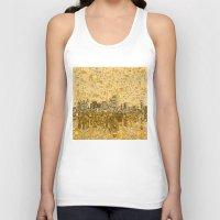 dallas Tank Tops featuring dallas city skyline by Bekim ART
