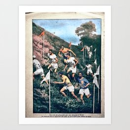 The 1924 Olympic Cross-Country Race by Achille Beltrame Art Print