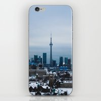 toronto iPhone & iPod Skins featuring Toronto by houseofdawn