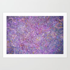 Lavender Haze Abstract Painting  Art Print