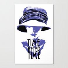 Time After Time Bleu Canvas Print