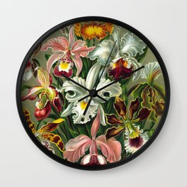 Victorian Orchids Floral Print-Ernst Haeckel Wall Clock